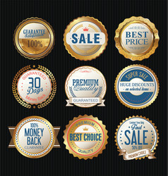 quality badges and labels retro collection vector image