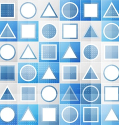Abstract blue game sign seamless pattern vector