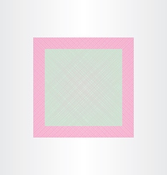 Square net wedding invitation template vector