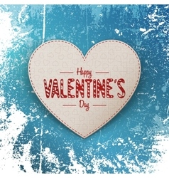 Valentines day realistic greeting card on snow vector