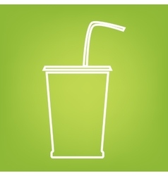 Drink line icon vector