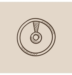 Disc sketch icon vector