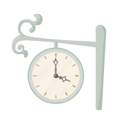 Station clock icon cartoon style vector image