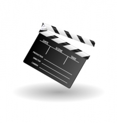 Black clapper vector