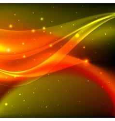 Shiny orange abstract background vector
