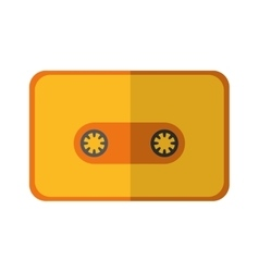 Cassette icon music and sound design vector