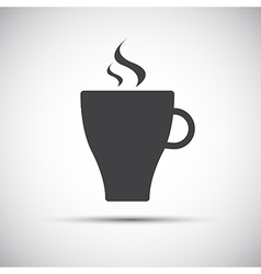 Simple cup of coffee icon vector