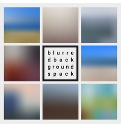 Abstract blurred design backgrounds pack vector