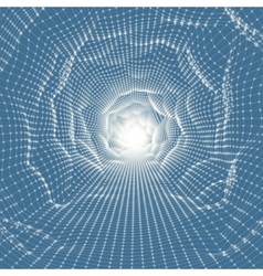 Abstract tunnel grid 3d vector