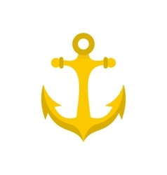 Anchor icon in flat style vector image