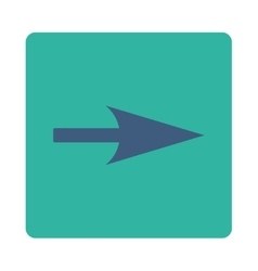 Arrow axis x flat cobalt and cyan colors rounded vector