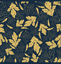 autumn seamless pattern with golden leaves vector image vector image