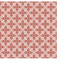 Brown seamless damask pattern background vector