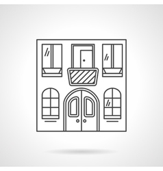 Cafe building flat line icon vector image vector image