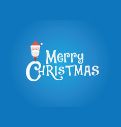 Christmas logo with sanata vector