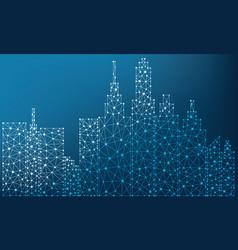 city polygon vector image