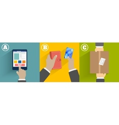 Clients hands purchasing work vector image