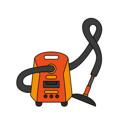 Color image cartoon vacuum cleaner electrical vector