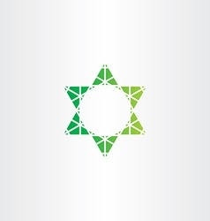 Eco green star icon sign vector