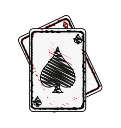 Game cards spades diamonds icon image vector
