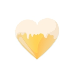 Heart from beer icon cartoon style vector image