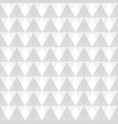 light grey geometric triangles seamless vector image vector image
