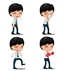 Man Worker Action Emotion Set vector image vector image