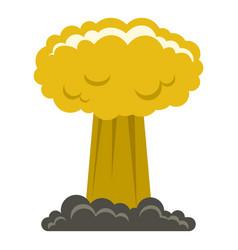 Mushroom cloud icon isolated vector