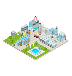 outdoor landscape with factory buildings vector image vector image