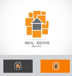 Real estate abstract house concept logo vector