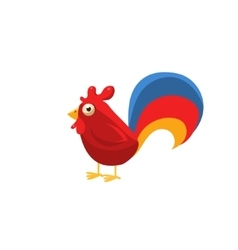 Rooster Simplified Cute vector image