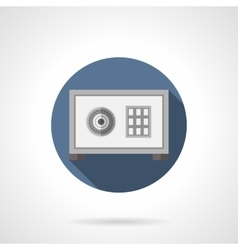 Safe box with lock flat color icon vector image