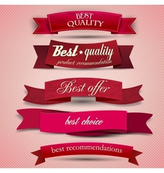 Set of superior quality and satisfaction guarantee vector