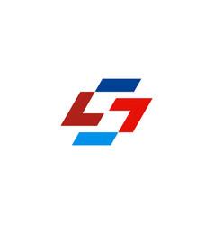 shape letter s technology logo vector image