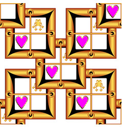 Valentineaposs day image the form of a square vector
