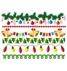 Christmas border elements vector