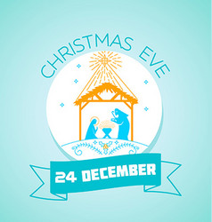 24 december christmas eve vector