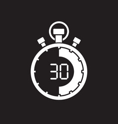 Stopwatch thirty minute vector