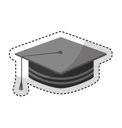 Graduation hat isolated icon vector