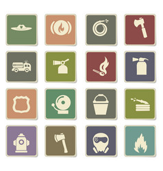 fire brigade icon set vector image