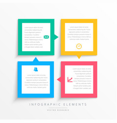 Colorful business infographics steps frame vector