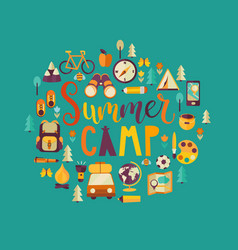 Concept of summer camp vector