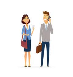 business people - modern flat design vector image