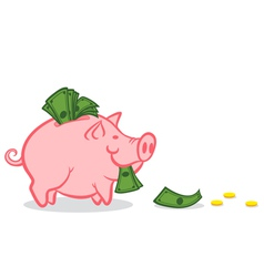 Pig money vector