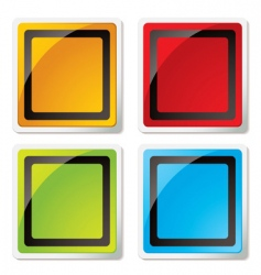 square icons vector image
