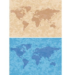 Beige and blue grungy background with map vector