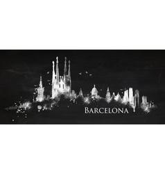 Silhouette chalk barcelona vector