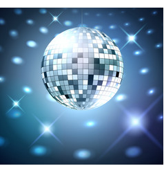 Silver disco bal vector image