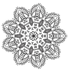 Hand drawing zentangle mandala element vector