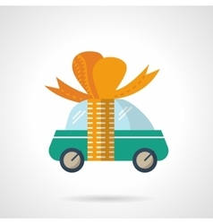 Car gift flat color icon vector